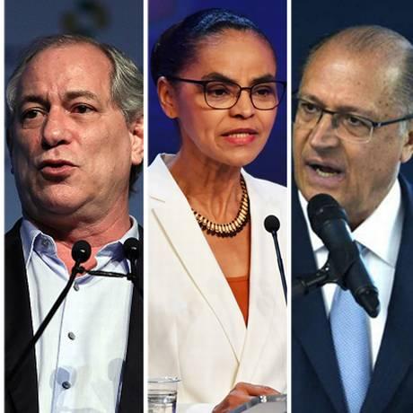 Candidatos a presidente Ciro Gomes, Marina Silva, Geraldo Alkmin e Fernando Haddad Foto: Arquivo O GLOBO