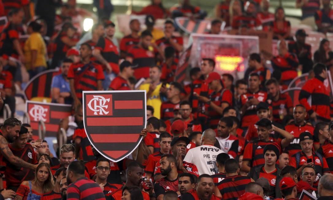 Torcida do Flamengo presente ao Maracanã Foto: MARCELO THEOBALD / MARCELO THEOBALD