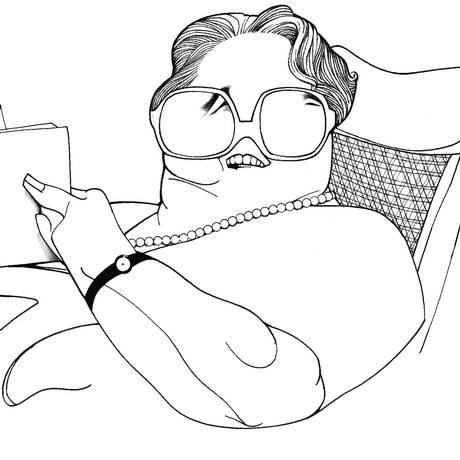 A cronista Rachel de Queiroz, no traço do cartunista Loredano Foto: Reprodução