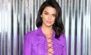 Kendall Jenner no desfile da Longchamp, em Nova York Foto: Jared Siskin / Getty Images for Longchamp
