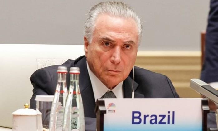 Presidente Michel Temer Foto: Rogério Melo / Presidência da República