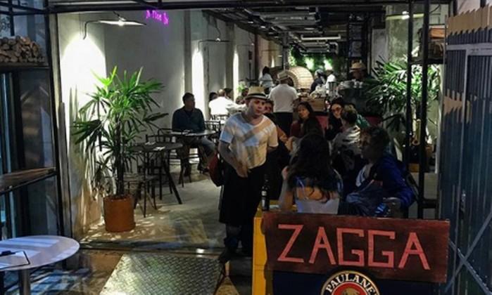 Zagga Pizza Bar, em Copacabana Foto: Reprodução Instagram