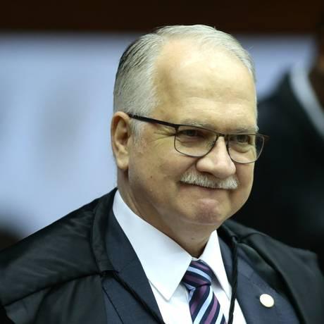 O ministro Edson Fachin, durante sessão do STF Foto: Jorge William/Agência O Globo/12-09-2018