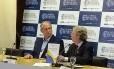 O candidato Ciro Gomes (PDT) em debate na Academia Brasileira de Ciências