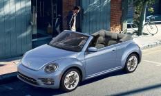 A cor azul bebê é semelhante ao usado na última edição do New Beetle Foto: Divulgação