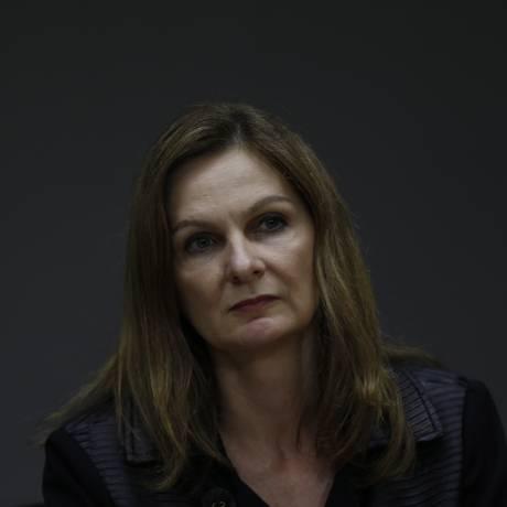 A secretária-executiva do Ministério da Fazenda, Ana Paula Vescovi, durante entrevista Foto: Michel Filho/Agência O Globo/11-04-2018