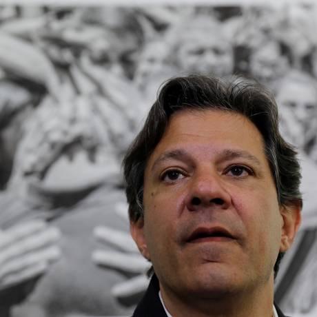 O candidato do PT à Presidência, Fernando Haddad Foto: Nacho Doce / REUTERS