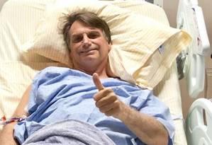 Bolsonaro está internado no Hospital Israelita Albert Einstein, em São Paulo 13/09/2018 Foto: Reprodução