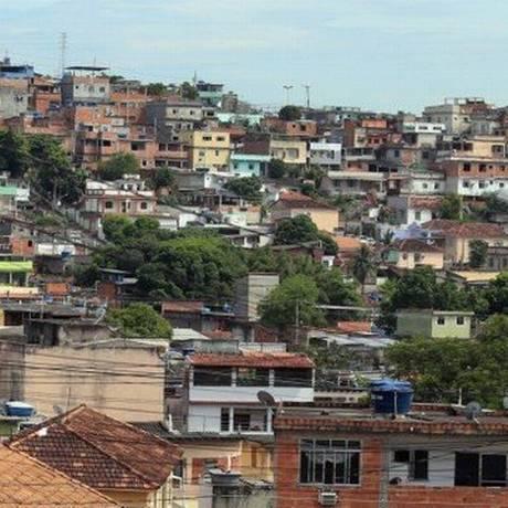 O Morro do Urubu, em Pilares Foto: Fabiano Rocha / Agência Globo /Arquivo
