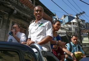 Romário faz campanha da Rocinha 01/09/2018 Foto: Pedro Teixeira / Agência O Globo