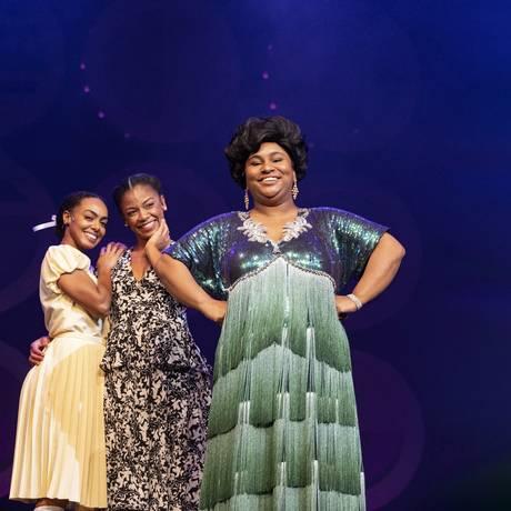 Dandara Mariana, Heloisa Jorge e Fernanda Jacob dividem o papel principal no musical 'Dona Ivone Lara – Um sorriso negro' Foto: Ana Branco / O Globo