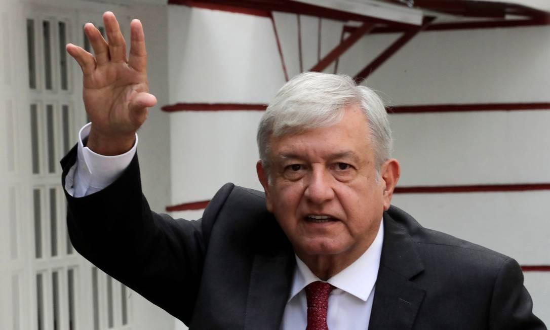 Presidente eleito do México, que tomará posse em 1º de dezembro, Andrés Manuel López Obrador: medida de teto salarial para funcionalismo era promessa de campanha Foto: HENRY ROMERO / REUTERS