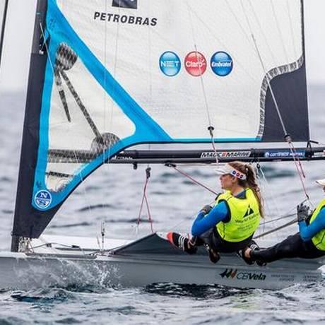 Dupla brasileira garantiu a medalha de ouro antecipadamente Foto: Divulgação / Sailing Energy / World Sailing