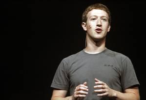 Mark Zuckerberg durante palestra em 2011 Foto: KIMIHIRO HOSHINO / AFP