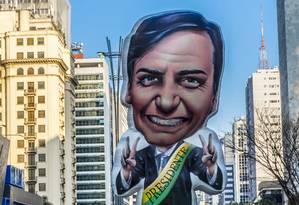 Apoiadores de Bolsonaro fazem manifestação na Avenida Paulista, na torcida pela recuperação do presidenciável após ele sofrer ataque com facão Foto: Cris Faga / NurPhoto via Getty Images