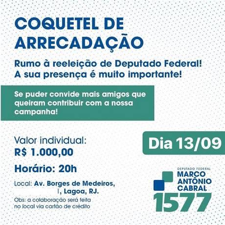 Convite de evento de arrecadação para campanha do filho do ex-governador Sergio Cabral Foto: Reprodução