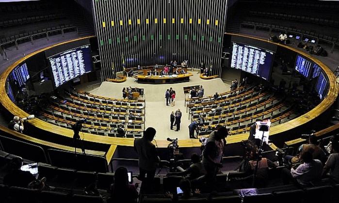 O plenário da Câmara dos Deputados, em Brasília Foto: Luis Macedo / Câmara dos Deputados
