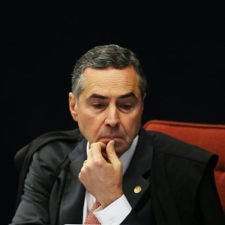 O ministro Luís Roberto Barroso, durante sessão da Segunda Turma do STF Foto: Ailton de Freitas/Agência O Globo/11-09-2018