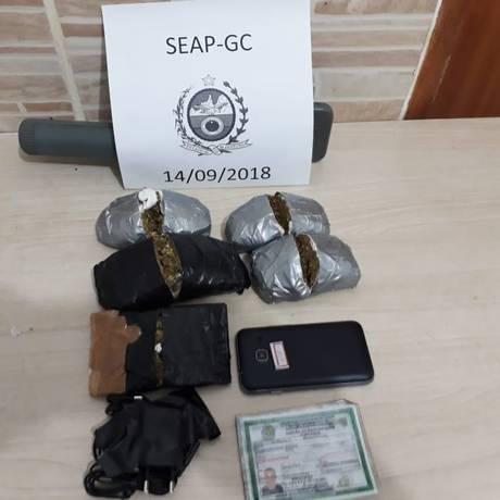 Material apreendido Foto: Divulgação/Seap
