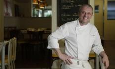 Didier Labbe. Chef posa no restaurante recém-inaugurado na Lagoa Foto: Gustavo Miranda / Agência O Globo