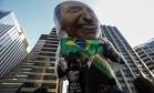 Manifestação de apoio a Jair Bolsonaro Foto: Miguel Schincariol / AFP
