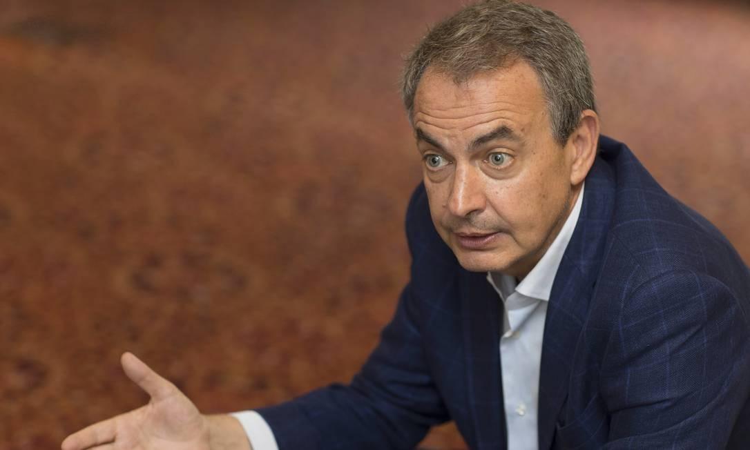 Ex-primeiro-ministro espanhol, José Luis Rodríguez Zapatero Foto: Edilson Dantas / Agência O Globo