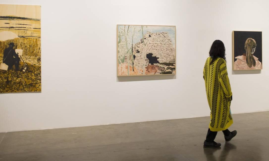 Stargazer II: com curadoria da pintorasuecaMammaAndersson, exposição foi um dos bons momentos da Bienal Foto: Edilson Dantas / Agência O Globo