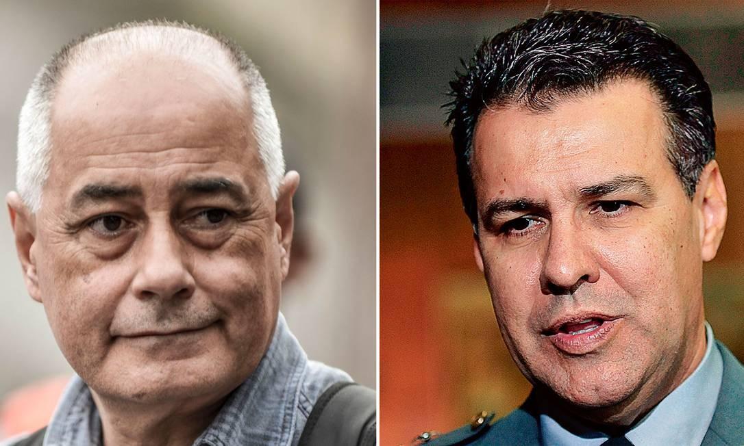 Zé Maria (à esq), presidente do PSTU, e o deputado federal Capitão Augusto Foto: Lucas Lacaz Ruiz/Gabriela Körössy / A13/Agência O Globo