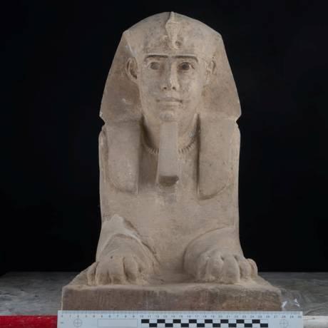 A esfinge representava o poder real no Egito Antigo, com a força física do leão e a sabedoria dos reis Foto: HANDOUT / REUTERS