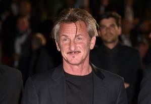 Sean Penn: ator teceu acusações contra o movimento #MeToo Foto: ALBERTO PIZZOLI / AFP