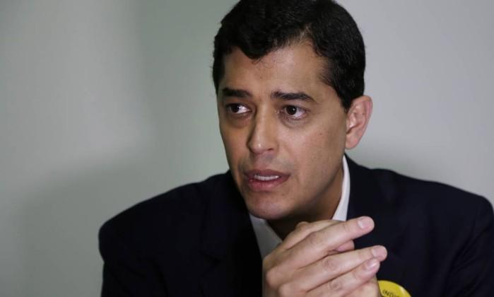O candidato do PSD ao governo do Rio de Janeiro, Indio da Costa Foto: Gustavo Miranda / Agência O Globo