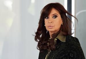 Cristina Kirchner: malas com propinas teriam começado no governo do marido Foto: EVARISTO SA / AFP