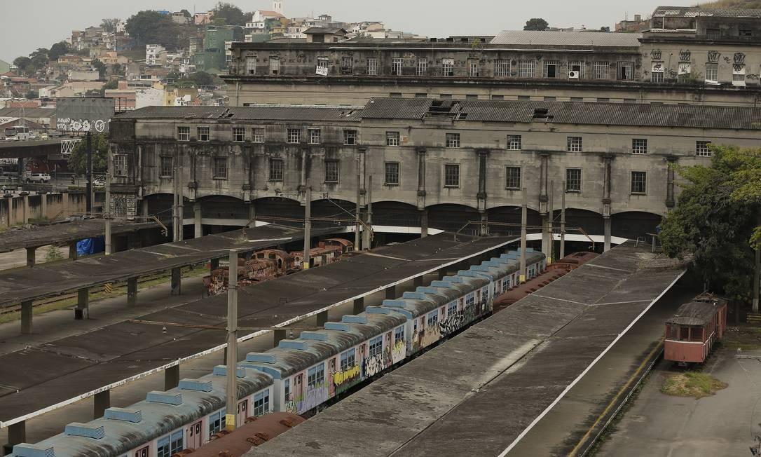 Estação Barão de Mauá, que é tombada pelo Iphan e pelo Inepac: problemas de conservação Foto: Pablo Jacob / Agência O Globo
