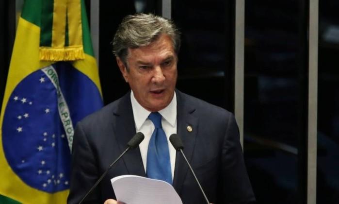 O senador Fernando Collor de Mello (PTC-AL) Foto: Givaldo Barbosa / Agência O Globo