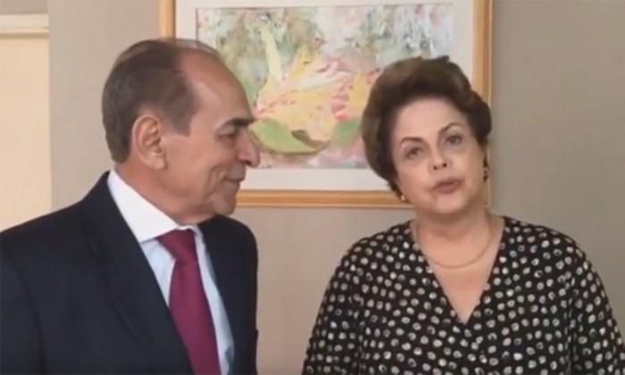 O ex-ministro Marcelo Castro e a ex-presidente Dilma Rousseff Foto: Reprodução