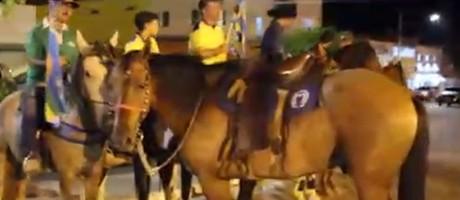 Cavalgada de apoio a Bolsonaro, em Manga, no norte de Minas Foto: Reprodução