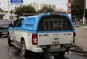 Viatura do 12º BPM, que atende a região de Niterói Foto: Thiago Freitas / Agência O Globo