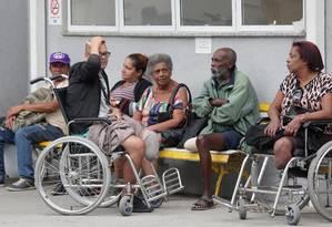 Movimentação de pacientes na ABBR Foto: Márcio Alves / Agência O Globo