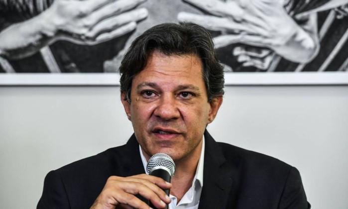 O candidato Fernando Haddad Foto: Nelson Almeida / AFP