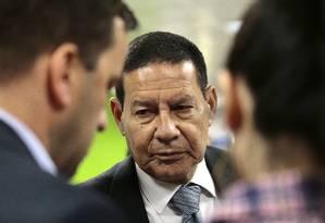 General Hamilton Mourão, candidato a vice na chapa de Jair Bolsonaro pelo PSL Foto: Jorge William / Agência O Globo