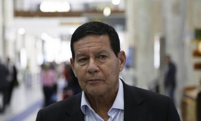 O general Mourão (PRTB), candidato a vice na chapa de Jair Bolsonaro Foto: Gustavo Miranda / Agência O Globo
