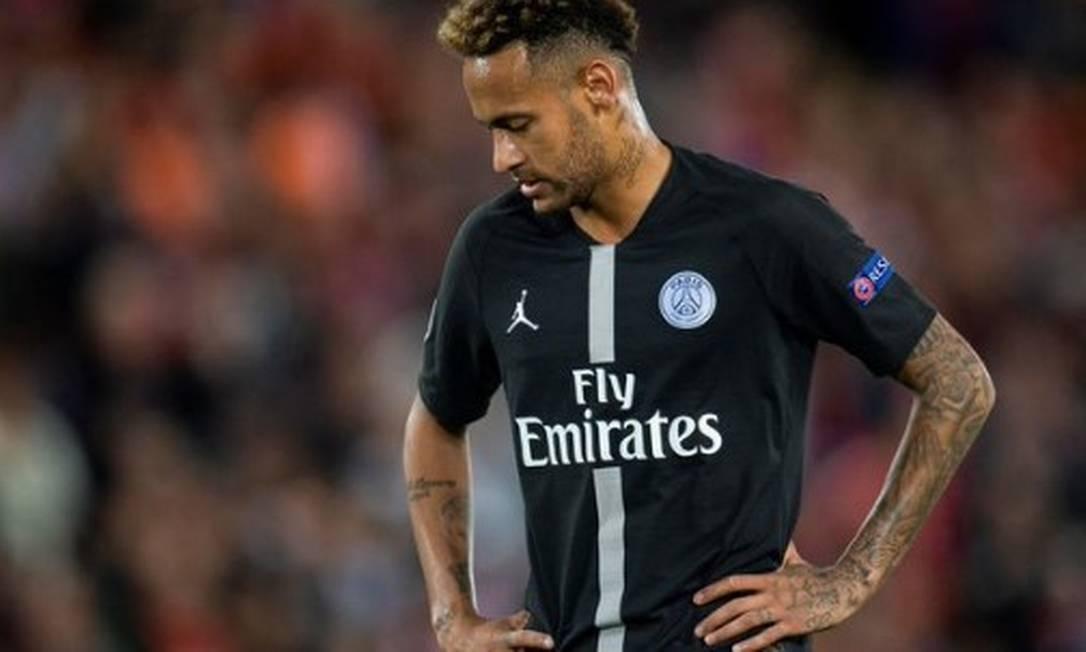 Neymar teve atuação criticada por jornal francês Foto: Reprodução