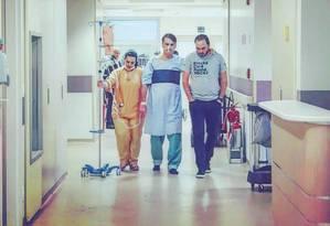 Jair Bolsonaro (PSL) divulga foto caminhando no hospital Foto: Divulgação