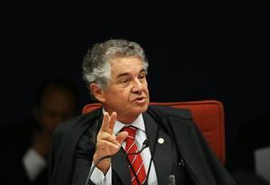 O ministro Marco Aurélio Mello, durante sessão da Primeira Turma do STF Foto: Ailton de Freitas/Agência O Globo/18-09-2018