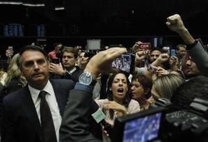 Jair Bolsonaro, em 2016, em sessão da Comissão Geral sobre a Violência contra a Mulher, no plenário da Câmara dos deputados Foto: Givaldo Barbosa / Agência O Globo
