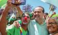 O candidato da Rede ao governo de Pernambuco, Julio Lóssio, durante atividade em campanha Foto: Reprodução/Facebook