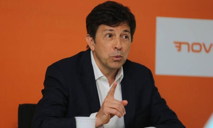 O candidato à presidência da República pelo Partido Novo, João Amoêdo Foto: Geraldo Bubniak / AGB / Agência O Globo