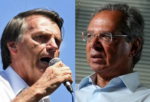 O candidato Jair Bolsonaro e o economista Paulo Guedes Foto: Editoria do site