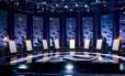 Candidatos ao governo de SP participam de debate na TV Foto: Reprodução