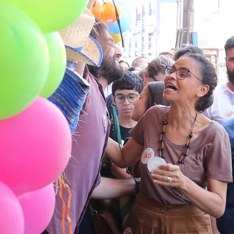 A candidata à Presidência Marina Silva (Rede) 14/09/2018 Foto: Givaldo Barbosa / Agência O Globo